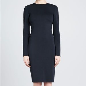 St. John Long Sleeve Fitted Milano Knit Dress 8